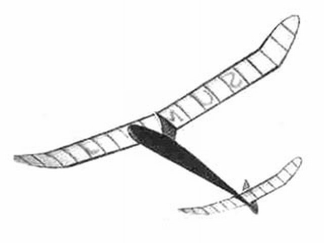 Lightweight Sailplane (oz8498) by Mick Farthing from Aeromodeller