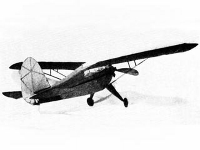 Rearwin Sportster (oz8528) by Herbert K Weiss from Model Airplane News 1938