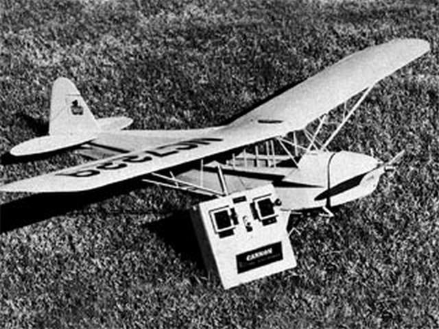 Piper J3 Cub (oz8584) by Harold Osborne from Scale R/C Modeler 1976
