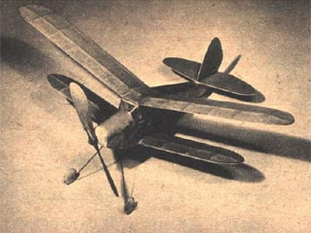 Garami Biplane (oz859) by Lou Garami from Air Trails 1948