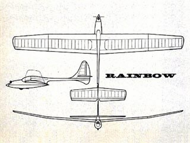 Rainbow Soarer (oz8623) by Don McGovern from Flying Models 1967