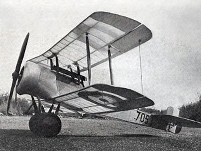 Bristol Scout Type D - completed model photo