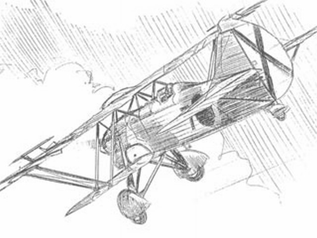 Fiat CR.32 (oz8786) by Pres Bruning from FAC Newsletter 1977