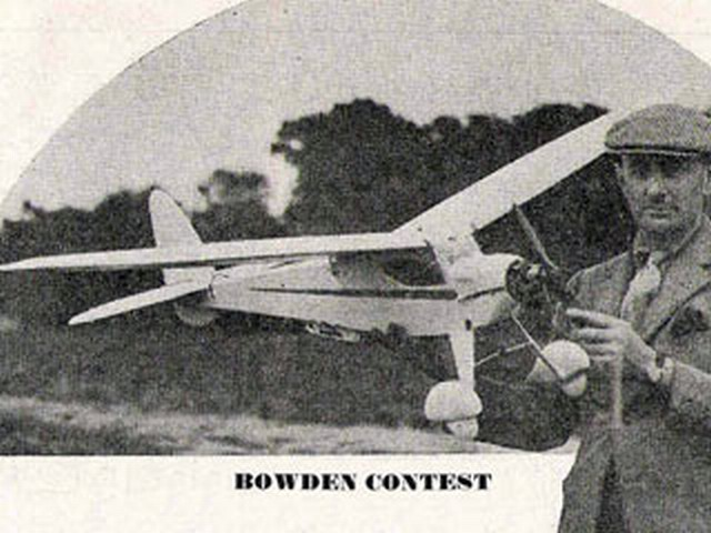 Bowden Contest (oz890) by CE Bowden from Aeromodeller 1945