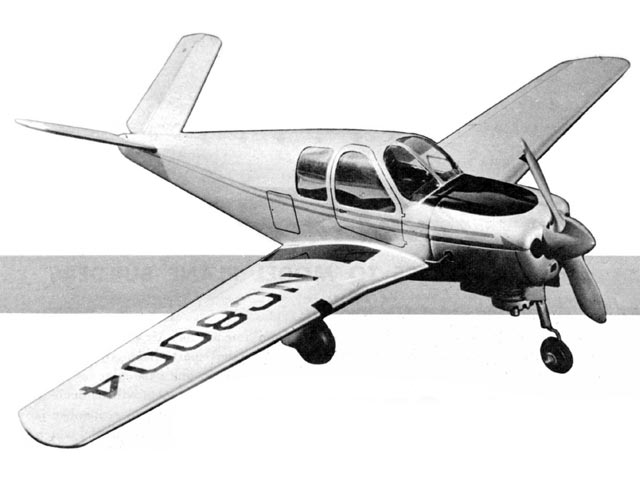 Beechcraft Bonanza (oz8918) by Lee Scott from Air Trails 1949