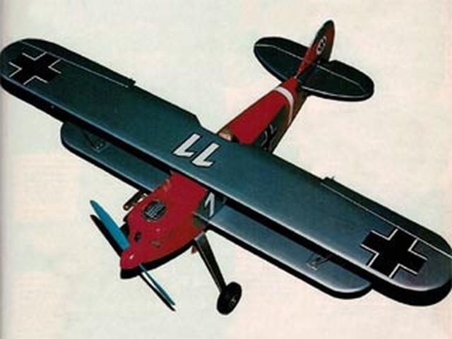 Heinkel He 51 (oz9010) by John Rutter from Radio Modeller 1989