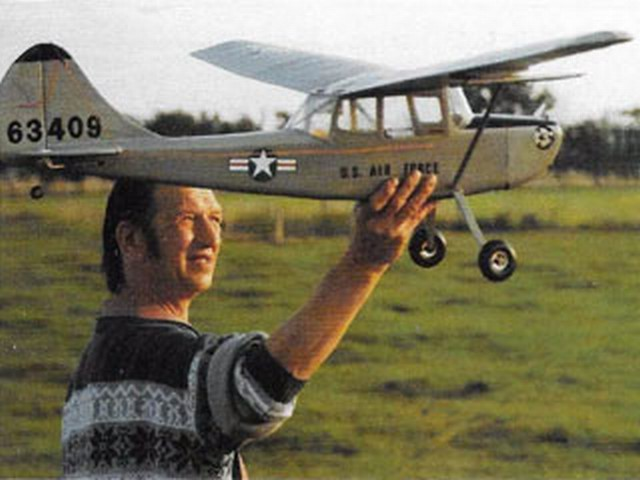 Cessna O-1A Bird Dog (oz9057) by Norman Holme from Radio Control Scale Aircraft 1994