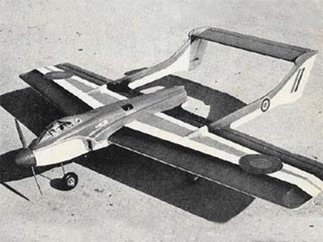 Sea Vixen (oz9083) by Jack Sheeks from Flying Models 1972
