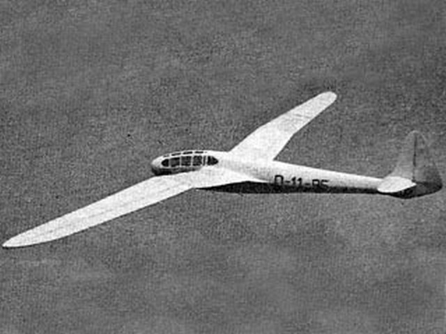DFS Reiher (oz909) by PMH Lewis from Model Aircraft 1959