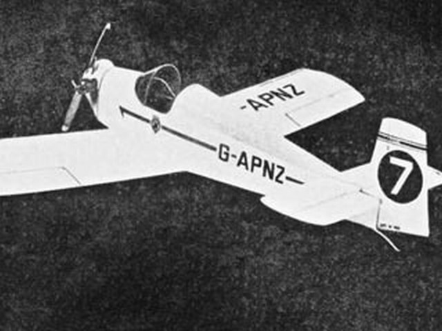 Druine Turbulent (oz910) by Doug McHard from Model Aircraft 1959