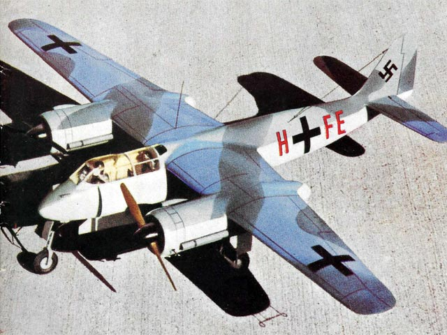 Focke-Wulf Ta 154 Moskito (oz912) by Peter Wheldon from Model Aircraft 1959