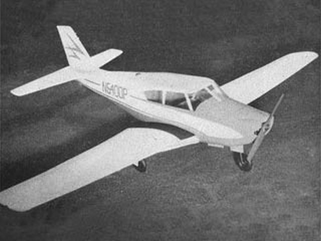 Piper Comanche (oz913) by PMH Lewis from Model Aircraft 1959