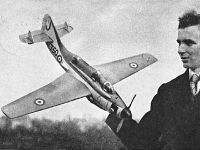 Fairey Gannet (oz914) by JM Bodey from Aeromodeller 1956
