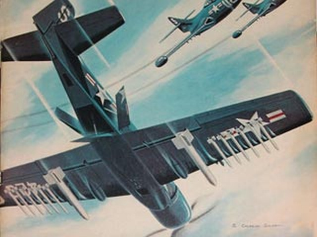 Douglas AD-2 Skyraider (oz917) by S Cal Smith from Air Trails 1951