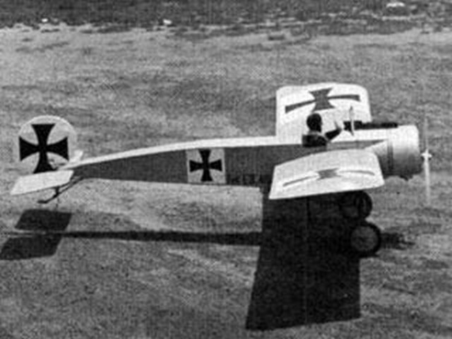 Fokker E III Eindecker (oz9176) by Don Srull from RCMplans 1966