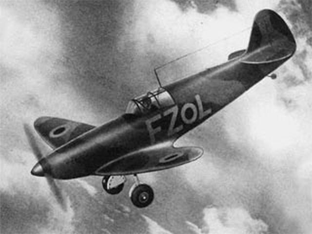 Spitfire (oz9203) by C Pollitt from Aeromodeller 1939
