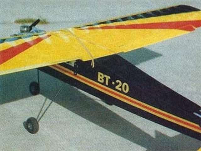 BT-20 and BT-40 Aileron Wings (oz9206) by Stu Richmond from RCMplans 1986