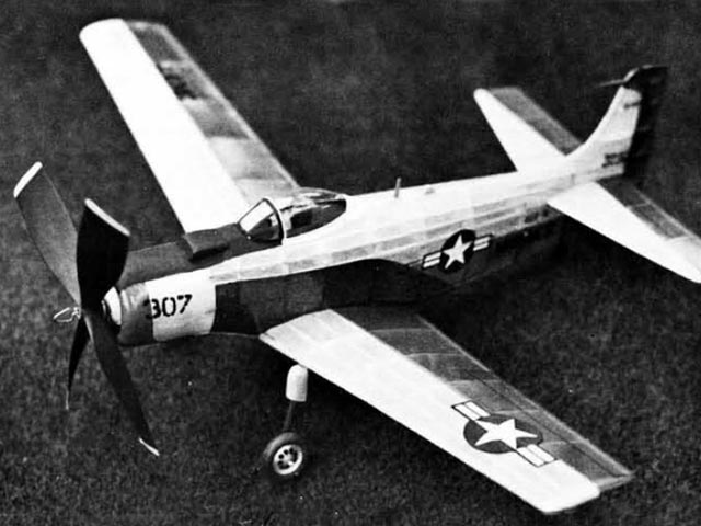 Douglas AD-4B Skyraider (oz921) by Walt Mooney from Model Builder 1972