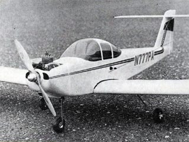 Piper Tomahawk (oz9274) by Dick Sarpolus from Flying Models 1979