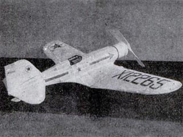 Northrop Gamma - completed model photo