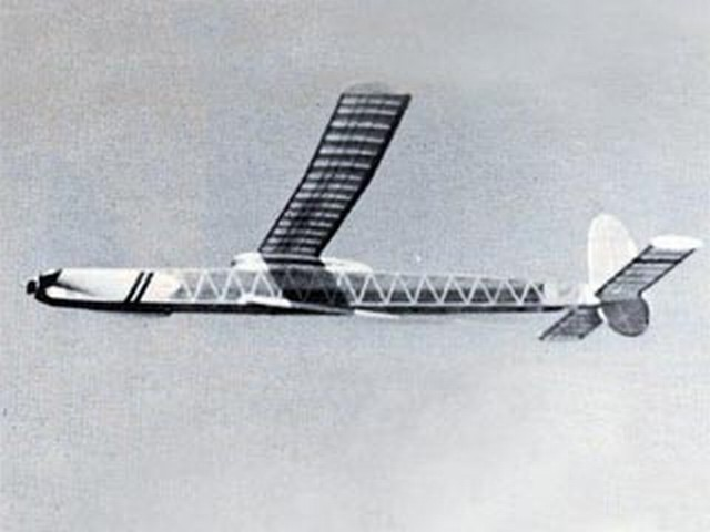 Wakefield Winner (oz9310) by Joe Foster from Model Airplane News 1954