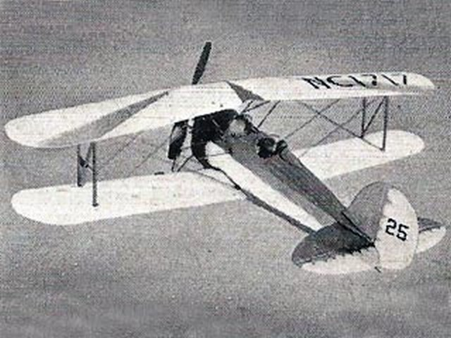 Great Lakes Trainer (oz9339) by Alan Kingswood from Model Aircraft 1957