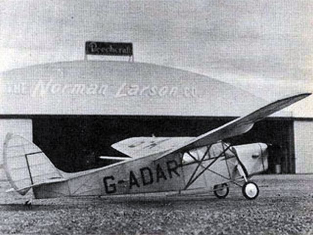 DH 85 Leopard Moth (oz9342) by Bill Warner from Model Airplane News 1967