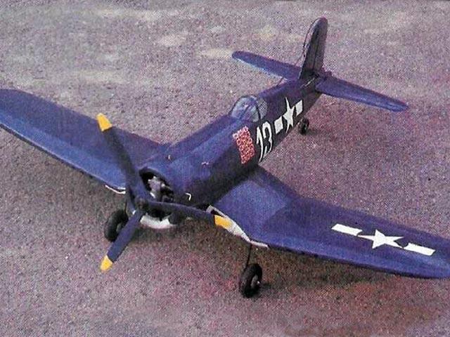 F4U Corsair (oz9387) by Pavel Bosak from Flying Models 1984