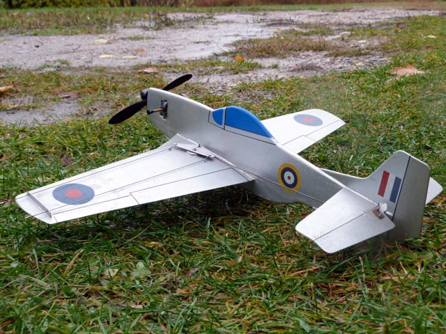 Baby Mustang (oz9411) by Paul Del Gatto from Model Airplane News 1958