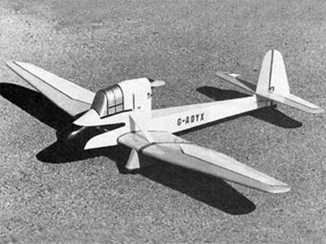 Luton LA3 Buzzard II (oz9425) by Don Martin from Flying Models 1984