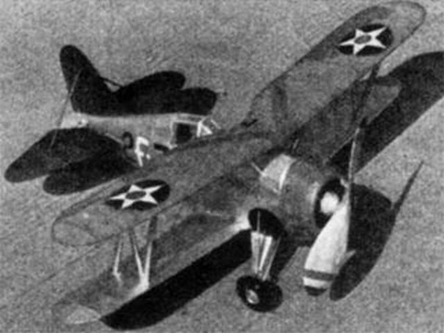 Grumman F3F-1 (oz958) by Bill Winter from Model Airplane News 1937