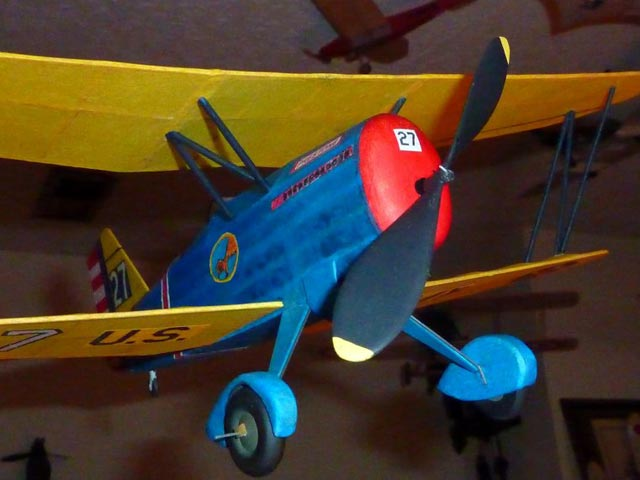 Curtiss Hawk P-6E - completed model photo