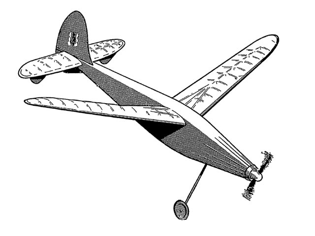 1946 Wakefield (oz9655) by Ron Warring from Paramount Model Aviation 1946