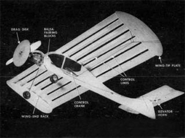 Slat Wing CL Trainer (oz9680) by Roy Clough from Popular SCience 1955