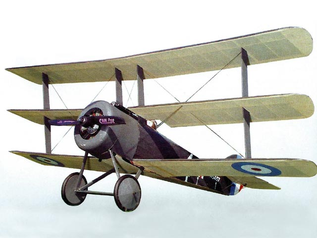 Sopwith Triplane - completed model photo