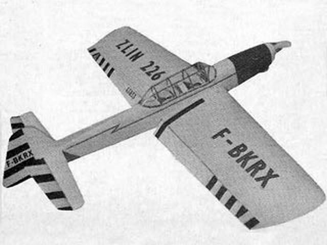 Zlin 226 (oz9806) by Frank Warburton from Aeromodeller 1969