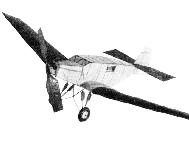 Junkers Bremen (oz9825) from Model Airplane News 1929