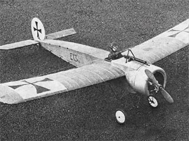 Fokker E1 - completed model photo
