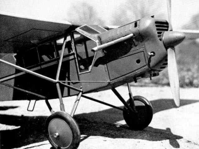 Curtiss Robin - completed model photo