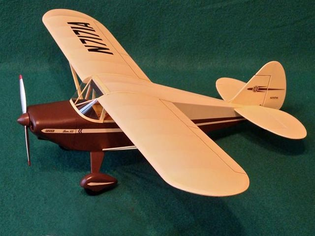 Piper Pacer (oz9875) by Robert Dance from Model Aviation 2013