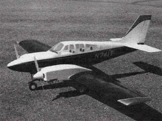 Beechcraft Baron (oz9924) by George Caldwell from Model Airplane News 1982