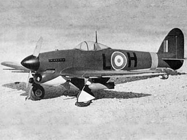 Hawker Typhoon - completed model photo