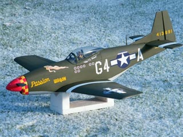 P-51D Mustang - completed model photo