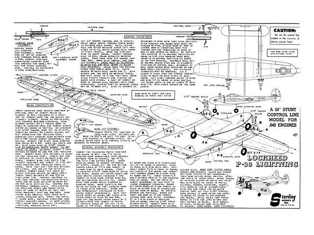 Lockheed P-38 Lightning - plan thumbnail image