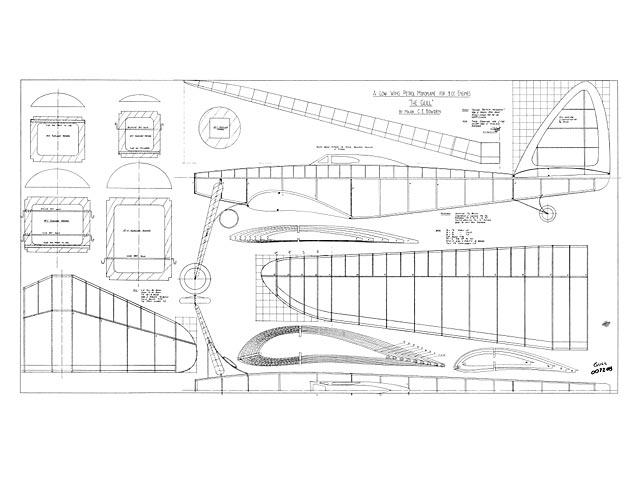 Low-Wing Petrol Monoplane - plan thumbnail image