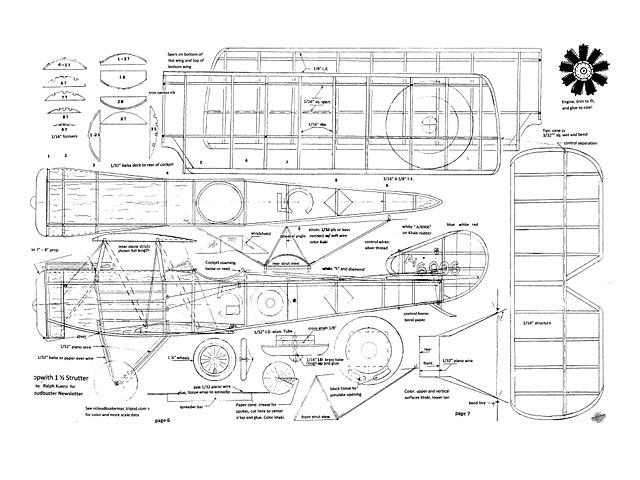 Sopwith 1-1/2 Strutter - plan thumbnail image