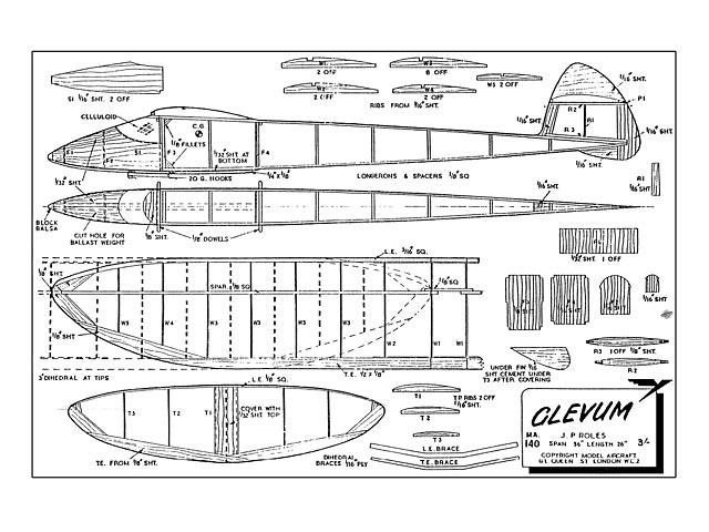 Glevum Glider - plan thumbnail image