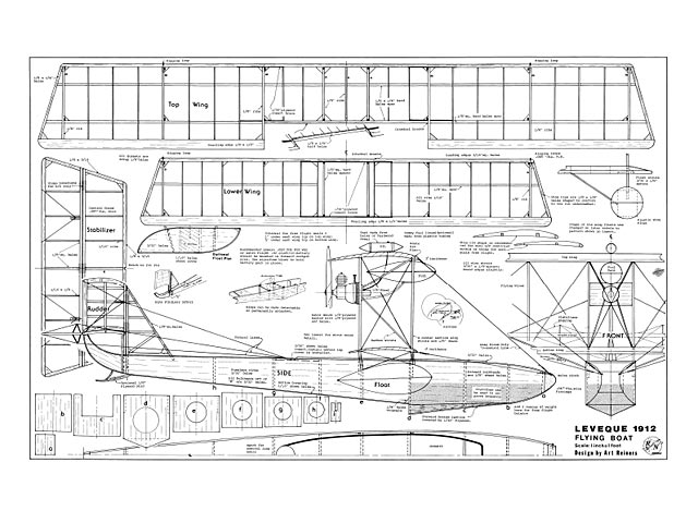 Leveque 1912 Flying Boat - plan thumbnail image