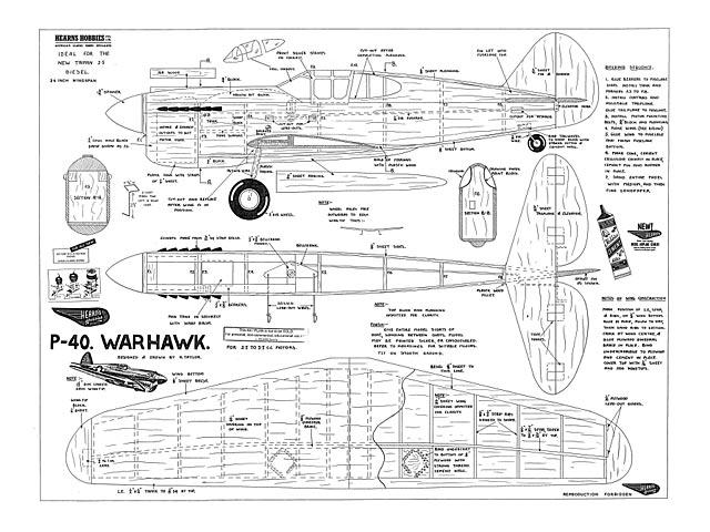 P-40 Warhawk - plan thumbnail image
