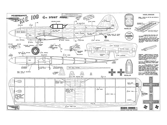 Messerschmitt Me109 - plan thumbnail image